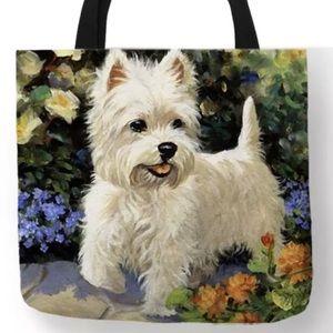Tote Bag-  New -  Westie Dog Tote Bag